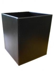 Офисные вёдра Корзины для бумаг Урны. Ведро кожаное коричневое квадратное