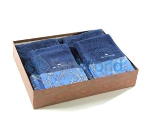 Комплект махровых полотенец (синий)
