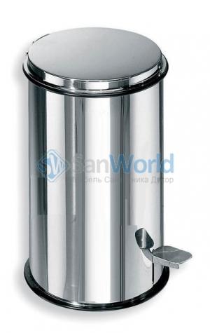 Ведро с педалью для мусора сталь полированная Lineabeta 3 литра и 5 литров