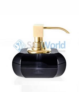 Kristall Anthrazit Decor Walther чёрный хрустальный Дозатор золото