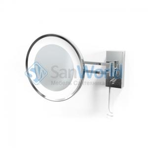Decor Walther BS36 хром настенное косметическое зеркало с подсветкой LED и увеличением х5 или х3