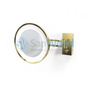 Decor Walther BS36 золотое настенное косметическое зеркало с подсветкой LED и увеличением х5 или х3