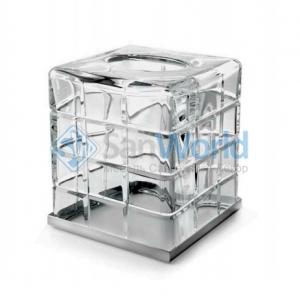 Palace хрустальная салфетница Хром куб