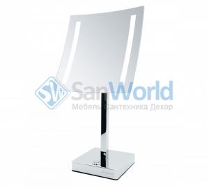 AVA Nicol косметическое зеркало с подсветкой LED от батареек и пятикратным увеличением настольное