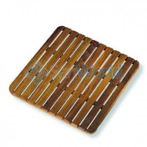 Деревянная решетка для ванной Teak дерево 60х60 тиковая