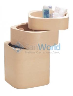 Этажерка для ванной и интерьера Buk Q деревянная