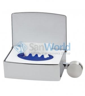 Контейнер для влажной туалетной бумаги настенный HELD ADDON Nicol с крючком для полотенец