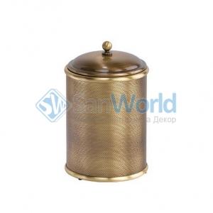Ведро для мусора Windsor с крышкой бронзовое круглое