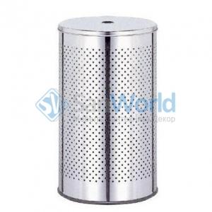 WASH BOX Nicol Корзина для белья с крышкой металлическая круглая