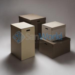 Parma кожаные корзины для белья универсальные с крышкой и боксы