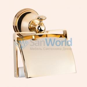 Держатель для туалетной бумаги с крышкой TW Harmony TWHA219oro