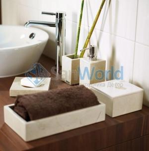 Victoria Nicol настольные аксессуары для ванной натуральный Травертин