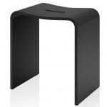 Stone чёрный табурет для душевой кабины и ванной комнаты