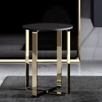 Dolce Табурет золотой с чёрным круглым сиденьем