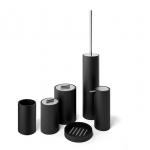 Stone Black аксессуары настольные для ванной чёрные