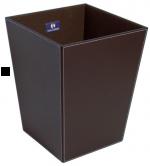 Ёмкость для мусора 2603DB ведро кожаное