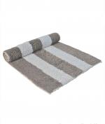 Коврики для ванной комнаты. Полотенце для ног (коврик) NEWPORT 50х80 слоновая кость/кофе с молоком от Casual Avenue
