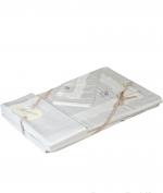 Постельное бельё Deluxe. Постельное белье Dentelle ЕВРО семейное с двумя пододеяльникам (155х200) Бежевый от Blumarine art.76357