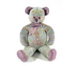 Мишка (мягкая игрушка) в текстиле с голубым узором (60 см)