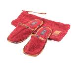 Тапочки банные в кисете (красные)