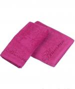 Полотенца хлопковые Deluxe. Комплект полотенец 1+1 Top Model Цикламен от Blumarine Art.78572-15