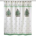 Шторки для душа и ванны текстильные. Шторка для ванной Spode Christmas Tree 11523JCQH