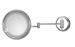 Зеркала косметические с подсветкой увеличением настенные настольные Зеркала с присосками. Зеркало настенное, с подсветкой, без провода, с 3-х кратным увеличением LUCCIOLO 20/2KK3