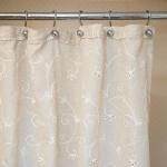 Шторки для душа и ванны текстильные. Шторка для ванной Embroidery 2803 Mix AE28M1820B-2