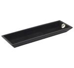 Аксессуары для кабинета Deluxe. Мелочница кожаная черная (8,5 х 30 см)