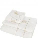 Полотенца хлопковые Deluxe. Комплект полотенец 3-х предметный (для рук 40х60, тела 60х110 и банное 100х150) Gold New (Голд Нью) Слоновая кость