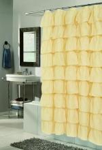 Шторки для душа и ванны текстильные. Шторка для ванной Carmen золотая SCVOIL/CAR/02