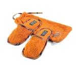 Тапочки банные в кисете (оранжевые)