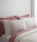 Постельное бельё. Постельное белье Ruya двуспальное евро (200х220) Белый/Розовый от  Eke
