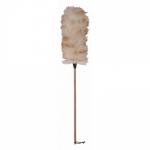 Щётка для пыли из овечьей шерсти с деревянной ручкой 70 см