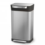 Контейнер для мусора с прессом Titan 20 и 30 литров нержавеющая сталь
