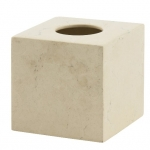 Салфетница из натурального мрамора настольная светло-кремовая Luxor