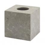 Салфетница из натурального камня настольная серо-бежевая Conor куб