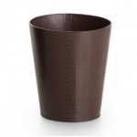 Ведро кожаное для мусора Pelle коричневое