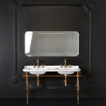 Раковина двойная консоль Kerasan Waldorf 4143 на металлической стурктуре 9195