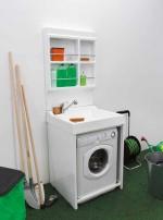 Итальянские постирочные раковины Мебель и оборудование для постирочной комнаты. Постирочная раковина Colavene ON с тумбой для стиральной машины