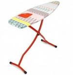Гладильная доска 135х45см (размер D) с силиконовой жаропрочной подставкой для утюга, цвет каркаса Red красный