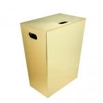 Ecopelle корзина для белья кожаная Золото
