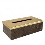 Palace Emperador Gold настольная мраморная салфетница Золото