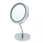 LANA Nicol косметическое зеркало с подсветкой LED от батареек и пятикратным увеличением настольное с гибким шарниром