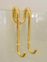 Скребки для стекла душевых кабин и зеркал. Крючок для полотенец золотой на душевую дверь Bert Gold