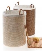 Корзина для белья плетёная большая Rattan Spa Gross Basket Ротанг светлая и тёмная