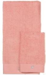 Полотенца хлопковые Deluxe. Комплект полотенец для лица и рук (40х60; 60х110) Crociera (Кросиера) Персиковый от Blumarine