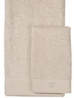 Полотенца хлопковые Deluxe. Комплект полотенец для лица и рук (40х60; 60х110) Crociera (Кросиера) Молочный от Blumarine