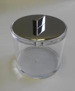 Контейнер для ватных дисков и шариков с крышкой хром Acryl