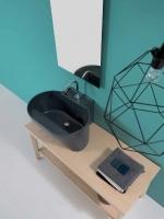 Постирочная раковина керамическая серая матовая Tino Colavene мебель итальянская